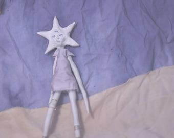 Travels-the-Stars - Handmade Mixed Media Poseable Art Doll