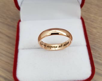 Engraved Ring, Custom Ring, Personalized Engraved Ring, Gold Ring, Custom Signature Ring, Stainless Steel Ring, Mens Ring, Womens Ring
