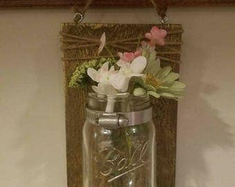 Clear Mason Jar Plaque
