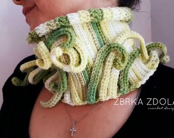 Statement neck warmer crochet pattern