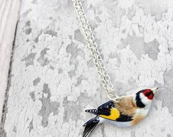 Goldfinch Necklace, Bird Jewellery, Bird Jewelry, Garden Bird, Bird Lover Gift, British Bird