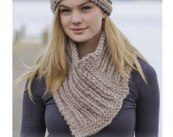 All DROPS: Headband and neck in rib, 100 wool