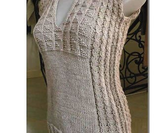 Sweater tube Alpaca sleeveless, size and choice of colors