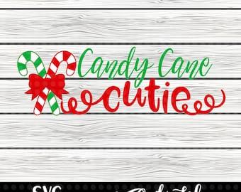 Candy Cane Cutie SVG design - svg cut file - svg design - svg - cut file - saying svg - candy cane svg - Christmas svg - instant download