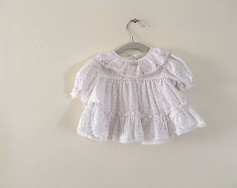 Little Pink Roses - Vintage Baby Layette - Size 6-9 months
