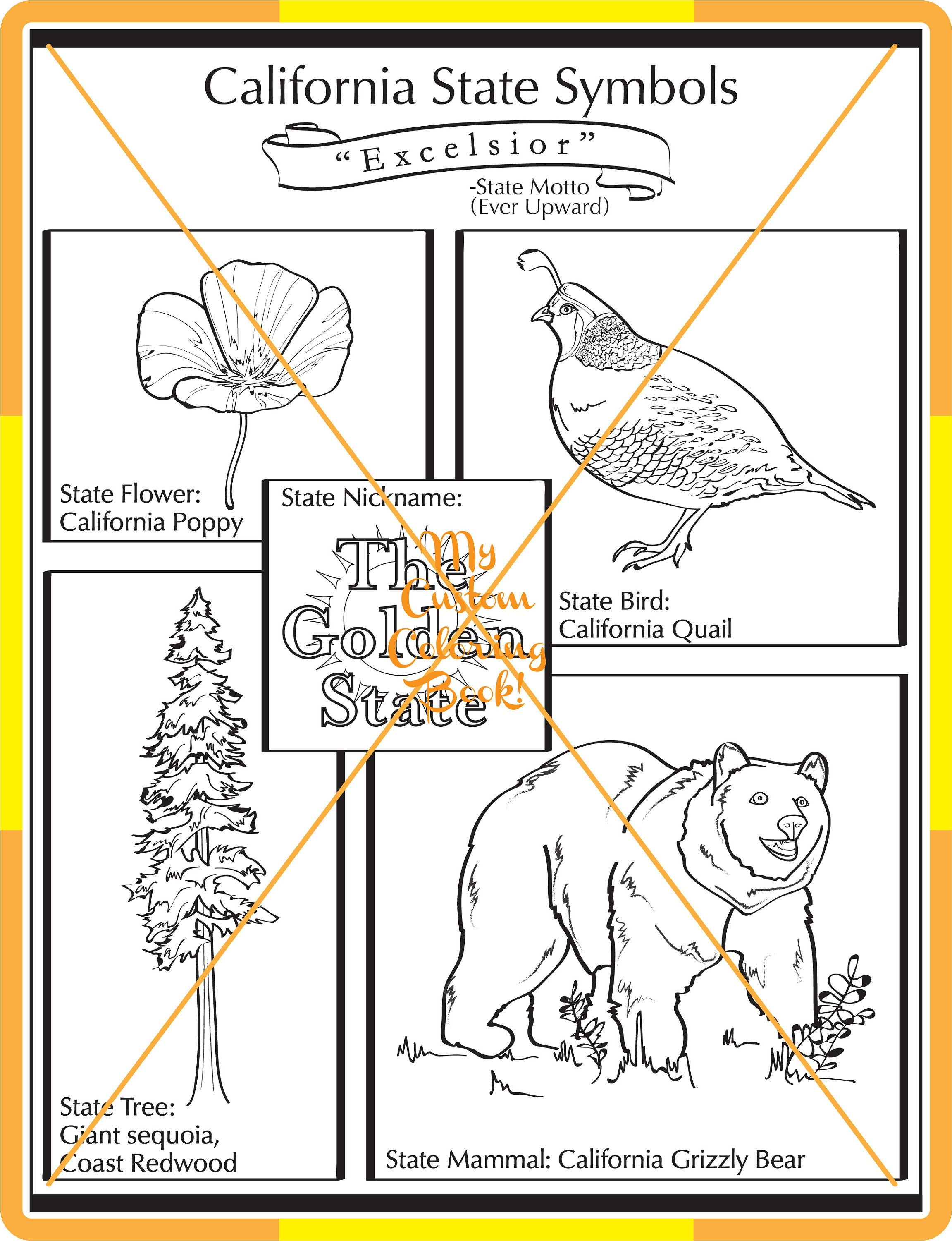 New california state symbol coloring page download zoom buycottarizona