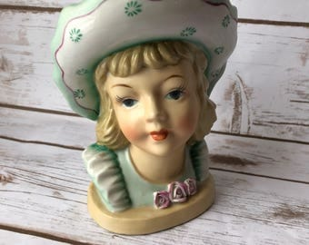 Beautiful RARE Ucagco Ceramics Japan Lady Head/Vase