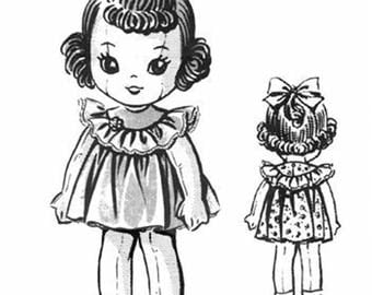 15 Inch Cloth Doll Pattern - 15 Inch Doll Clothes Pattern Laura Wheeler - Vintage Patterns - Doll Patterns - Doll Clothes - Digital Download