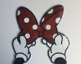 Large Minnie Sequins Iron on patch