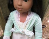 Mint Green Lace Knot Shrug Made to fit 18 inch American Girl Dolls