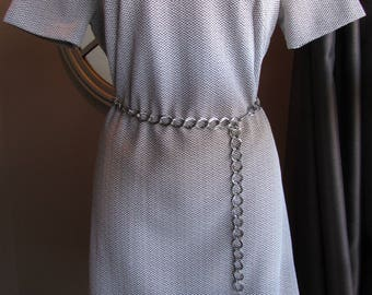 Vintage 60's Dress Handmade Polyester A Line Festival Mod Scooter Mini Dress