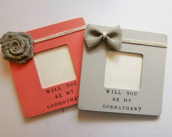 Godparent proposal ideas, Will you be my Godmother gift, godfather godmother proposal frame
