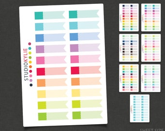Flags Planner Stickers - Repositionable Matte Vinyl for all planners
