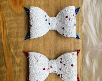 4th of July Hair Bow, Fourth Of July Hair Bow, Baby Bow, Girls Bow
