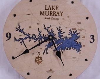"Lake Murray, South Carolina   12"" Clock"