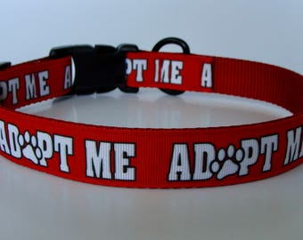 Red Adopt Me Dog Collar and Leash - Ready to Ship!