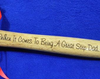 Step Dad Gift ~ Engraved Hammer ~ Stepfather Gift ~ Christmas Gift For Step Dad ~ Custom Gifts ~ Gift For Dad ~ Birthday For Him ~ Step Dad