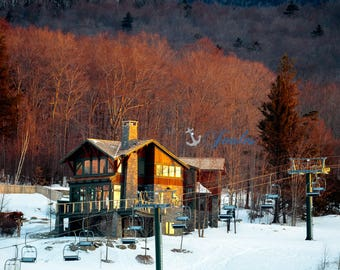Spruce Peak ~ Stowe, Vermont, Skiing, Mountain, Snowboarding, Art, Artwork, Photograph, Joules, New England, Snow, Winter Scenes