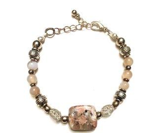 Beautiful Unakite Stone Bracelet