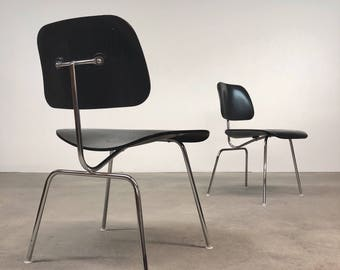 Herman Miller | Eames DCM Ebony | Mid Century Chairs DWR
