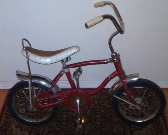 Vintage Schwinn Lil Tiger No Brakes Bicycle Bike Banana Seat