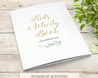 Wedding Kids Activity Book Wedding Table Activities for Kids, Kids Activity Pack, Coloring, Maze, Word Search, I Spy, Download and Print