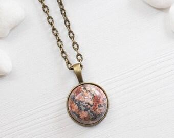 Healing Stone Necklace, Jasper Necklace, Gemstone Necklace, Jasper Jewelry, Leopardskin Jasper Necklace, Gemstone Jewelry, Jasper Necklace