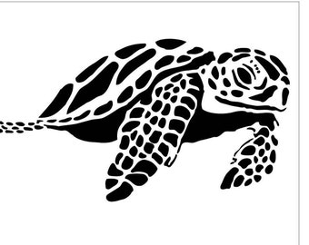 SEALIFE11 Reusable Laser-Cut Stencil Sea Turtle