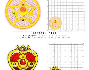Geek & Sundry x Kodansha 's Pretty Guardian Sailor Moon Set - Die Cut Embroidered Iron On Applique Patch
