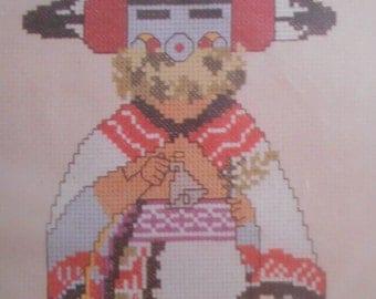 Canyon Crafts Talavai-i Morning Singer Kachina Counted Cross Stitch Kit NEW 1002