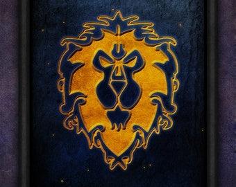 Alliance, HS, WOW, World of Warcraft, Warcraft, Alliance WOW, Alliances, Horde, Hordes, Pandaria, Legion, World, wow Alliance Poster Print