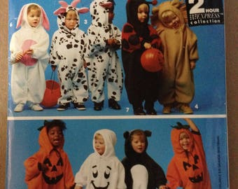 Simplicity 0669 2 Hour Express Costume Collection - Bunny, Cow, Lady Bug, Lion, Panda - Size 1/2 1 2 3 4