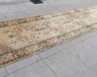 vintage runner rug , runner for floor, turkish runner rug, runner rug, rug for home, 626