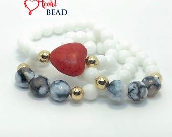 I Heart You - Bead Bracelet