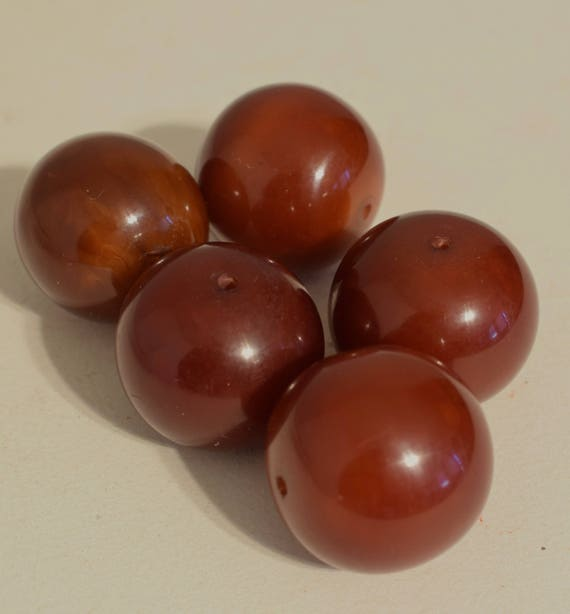 Beads African 1980 Old Dark Copal Amber Large Beads Jewelry Necklace Bracelets African Amber Beads