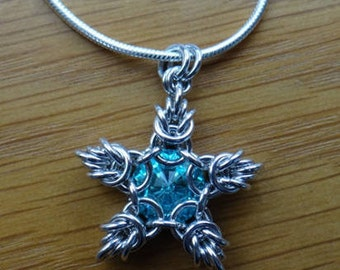 Sparkler Pendant Tutorial - Chainmaille