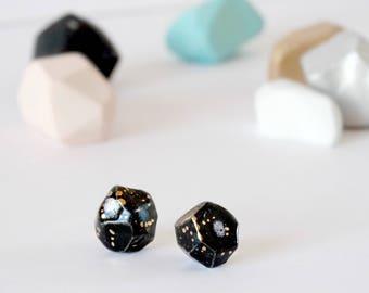 Cosmic Galaxy Earrings, Ceramic Earrings, Geometric Earrings, Astronomy Gift, Solar System, Space Earrings, Galaxy Jewelry, Space Jewelry