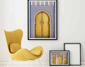 Photographie Fine Art - Toile - Porte Marocaine - Palais Royal de Fès - Maroc