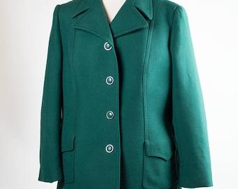Vintage  Jacket // Coat  // 70s// Green //
