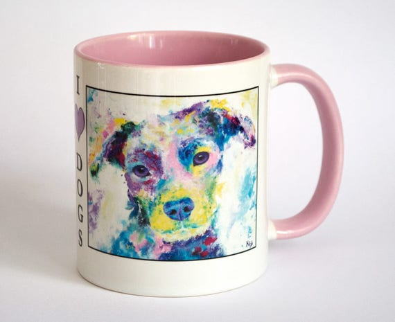 Dog Mug - Dog Lover Gift, Coworker Gift, Dog Coffee Mug, Dog Coffee Cup, Dogs Mug, Dog Gift, Dog Owner Gift, Gift For Her, I Heart Dogs Mug.