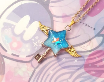 Blue Star Key Necklace