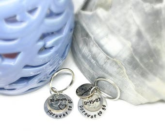 10 year anniversary gifts for men, 10 year anniversary for her, 10 year anniversary keychain, 10th anniversary gift for him, 10th wedding