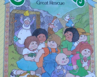 Cabbage Patch Kids - Vintage Illustrated Children's Story Book - The Great Rescue