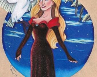 9x12 Black Swan Print