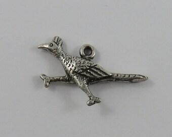 Road Runner Sterling Silver Vintage Charm For Bracelet
