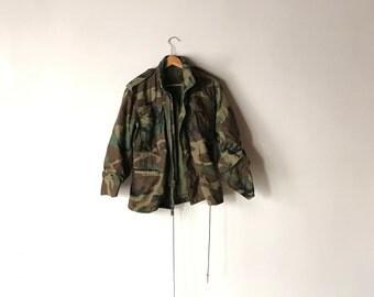 CAMO MILITARY JACKET // Size X-Small - X-Short // Military // Jacket // Military Jacket // Army Jacket // Field Jacket // Camo Field Jacket