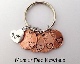 Mom Birthday Gift, Mom Gifts, Mothers Day Gift from Daughter, Mothers Day Gift for Mom, Gifts for Mom, Mom Keychain, Mom Penny Keychain
