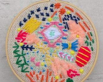 SALE FibrePOP hoop art #1