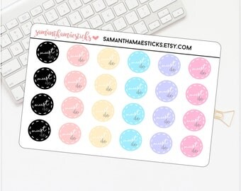 Must Do Colorful Circles Planner for use with Erin Condren Lifeplanner™ Stickers