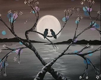 Love bird painting